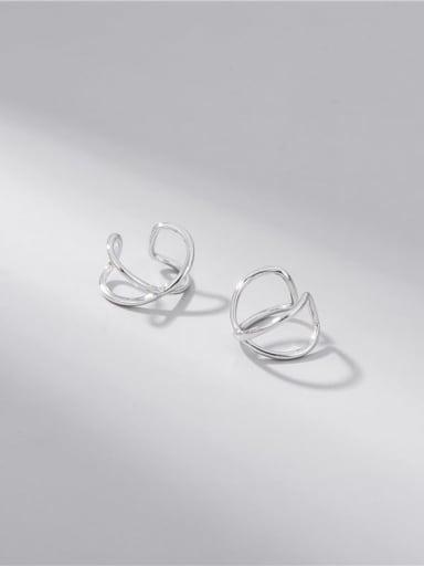 925 Sterling Silver Cross Minimalist Clip Earring