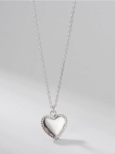 925 Sterling Silver Heart Minimalist Necklace