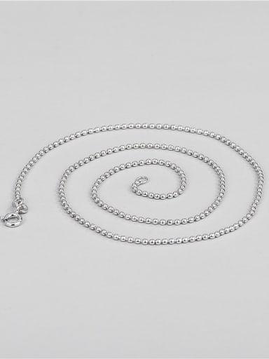 925 Sterling Silver Round Minimalist Bead Chain