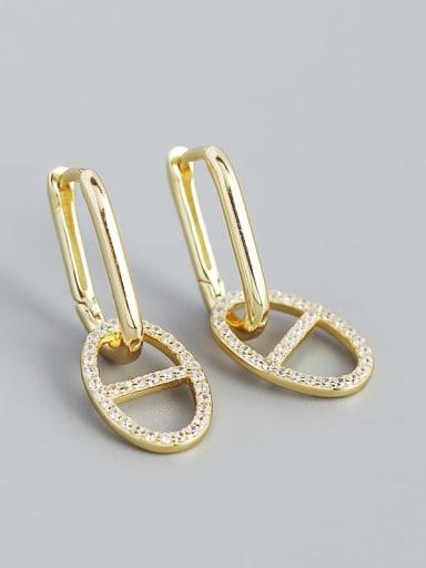 925 Sterling Silver Cubic Zirconia Geometric Minimalist Drop Earring