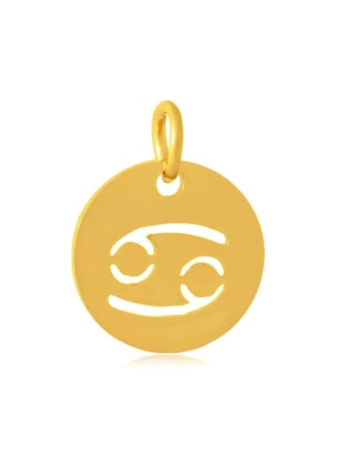 XT445 4G Stainless steel Imitation Gold Plated Constellation 12*17mm Charm