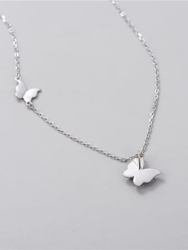 925 Sterling Silver Butterfly Minimalist Necklace