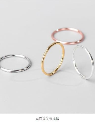 1.0 fine Ring Platinum 925 Sterling Silver Round Minimalist Band Ring
