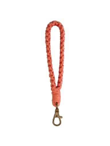 Copper Cotton Rope Hand-Woven Wrist Key Chain