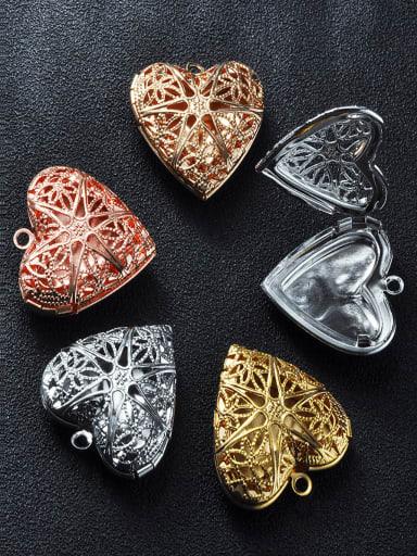 Copper Heart Charm Height : 25.5mm , Width: 26mm