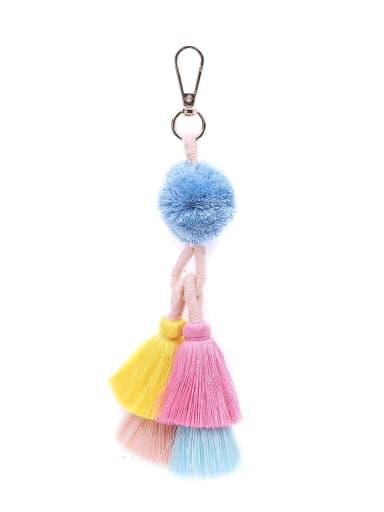 K68038 Alloy Cotton Rope  Tassel Hand-Woven Bohemia Bag Pendant
