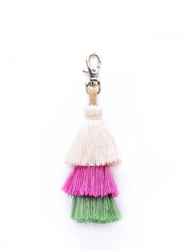 White color k68047 Alloy Cotton Rope Tassel Bohemia Hand-Woven Bag Pendant