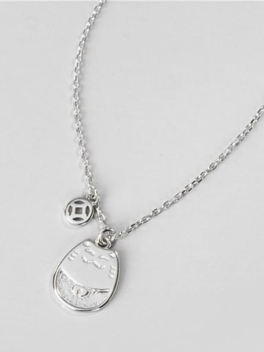 925 Sterling Silver Cat Minimalist Necklace