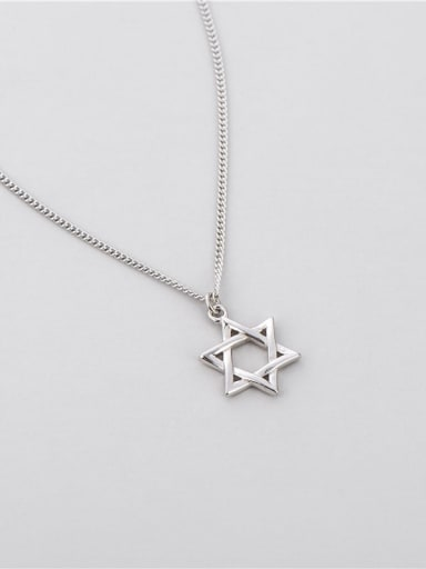 Six pointed star necklace 925 Sterling Silver Star Minimalist Necklace