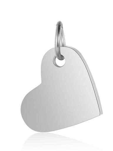 XT618 1 Stainless steel Heart Charm Height :10.5mm , Width: 14 mm