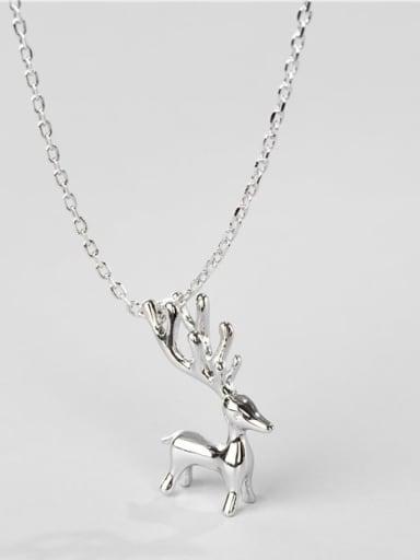 925 Sterling Silver Deer Minimalist Necklace
