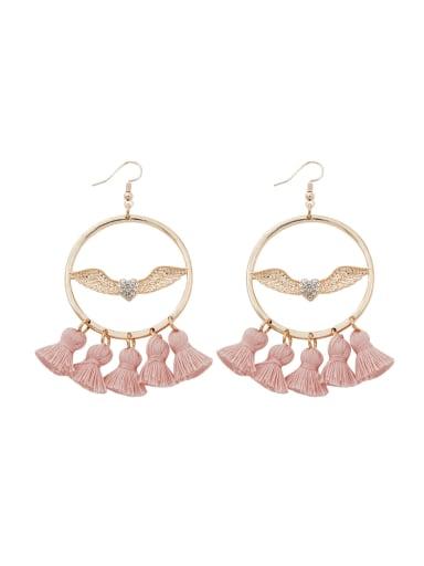 Alloy Cotton Wing Bohemia Hand-Woven Drop Earring