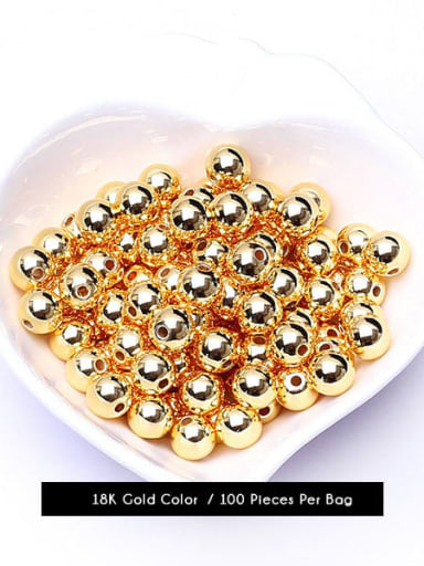 Gold Color Brass Round Gold Beads ,from 2mm to 8mm