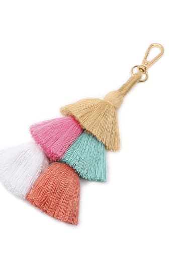 K68037 Alloy Cotton Rope Tassel Tassel Hand-Woven Bohemia Bag Pendant