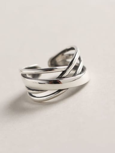 925 Sterling Silver Geometric Minimalist Stackable Ring