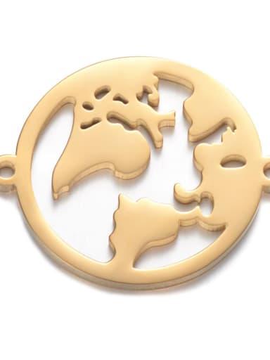 golden Stainless steel Round 27*22mm Charm