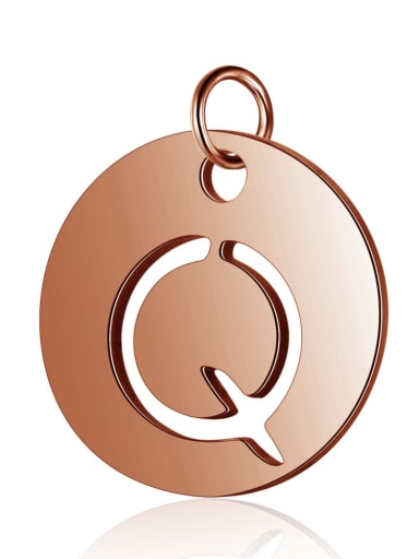 Stainless steel  Rose Gold Plated Message 12mm Charm