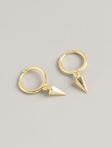 18K Gold 925 Sterling Silver Geometric Trend Huggie Earring