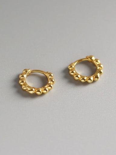 2#Small gold 925 Sterling Silver Geometric Minimalist Huggie Earring