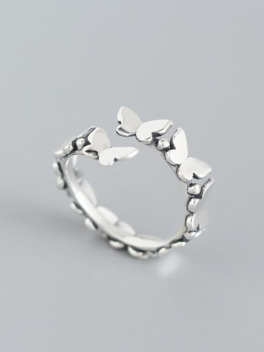 925 Sterling Silver Butterfly Trend Band Ring