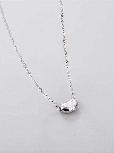 925 Sterling Silver Irregular Minimalist Necklace