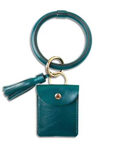 K68198 Alloy Leather Coin purse Hand Ring Key Chain