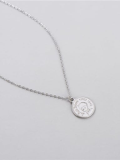 925 Sterling Silver Minimalist Little Prince Round Necklace