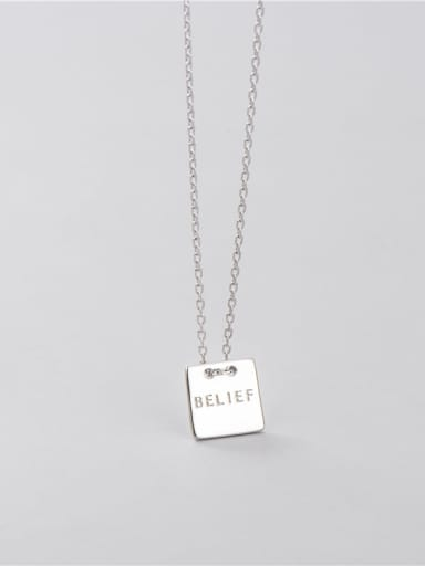 square  8.5mm 925 Sterling Silver Geometric Minimalist Necklace