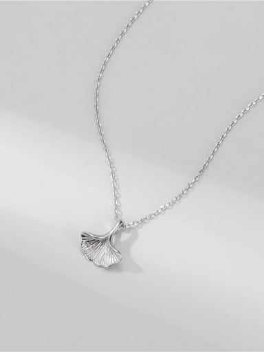 925 Sterling Silver Leaf Minimalist Necklace