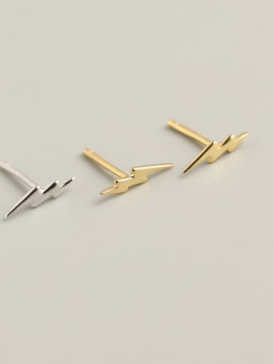 3#Platinum 925 Sterling Silver Geometric Minimalist Stud Earring