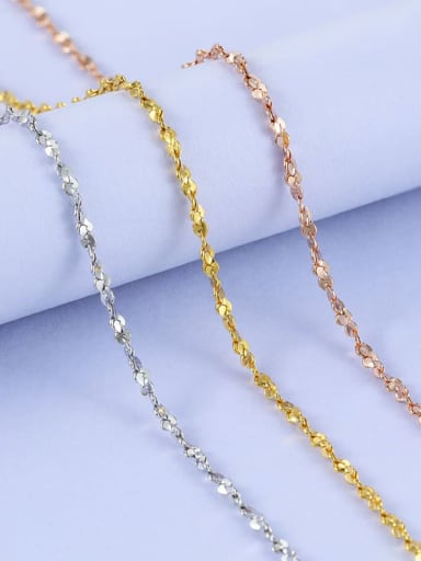 925 Sterling Silver Twisted Serpentine Chain