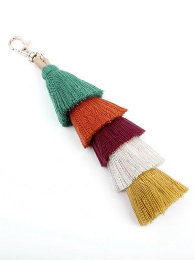 K68009 green color Alloy Cotton Rope  Tassel Artisan Hand-Woven Bag Pendant