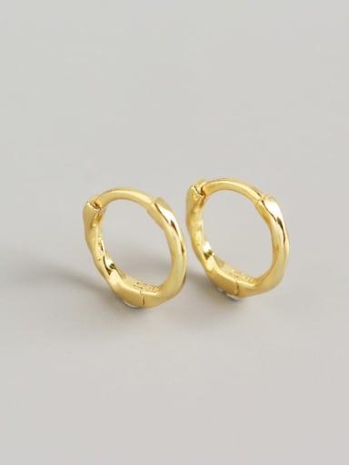 2#Gold 925 Sterling Silver Geometric Minimalist Huggie Earring