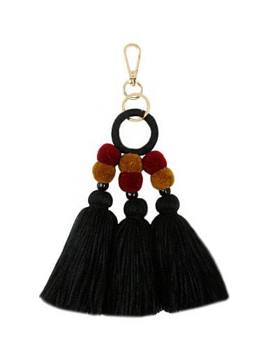 K68195 Alloy Bead Cotton Rope  Tassel Bohemia Hand-Woven Bag Pendant