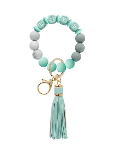 Mint k68267 Alloy Silicone Bead Tassel Bracelet /Key Chain