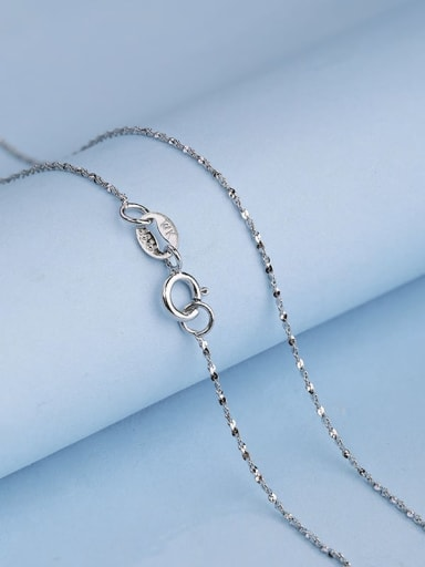 925 Sterling Silver Lengthen Twisted Serpentine Chain