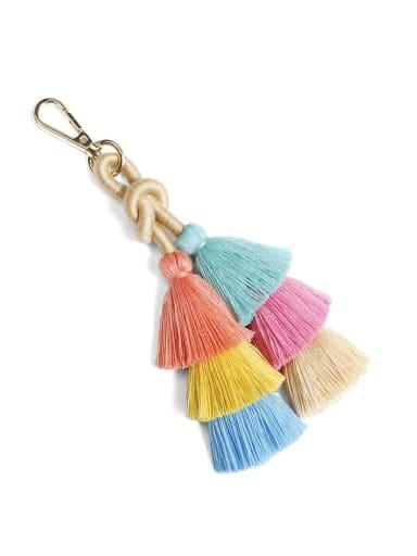 Color k68182 Alloy Cotton Rope Tassel Bohemia Hand-Woven Bag Pendant
