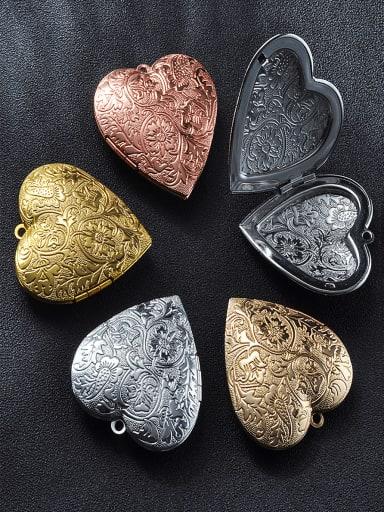 Copper Heart Charm Height : 39.8mm , Width: 42.3 mm
