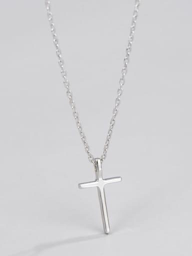 925 Sterling Silver Cross Minimalist Necklace
