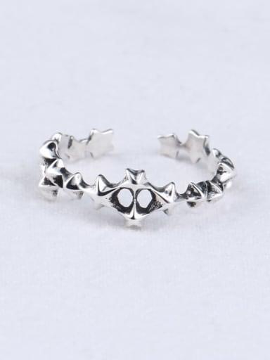 925 Sterling Silver Skull Vintage Midi Ring