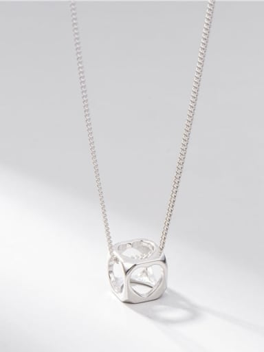 925 Sterling Silver Square Minimalist Necklace