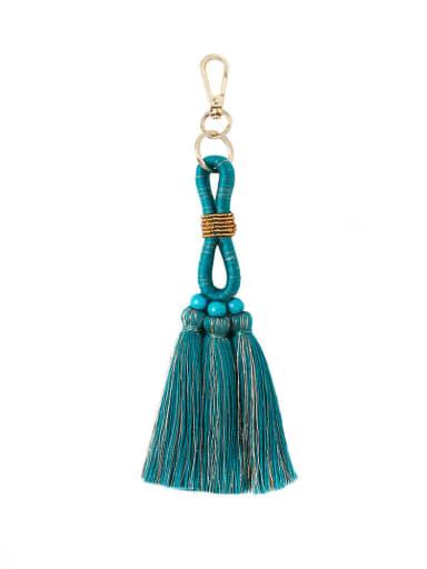 K68194 Alloy Bead Cotton Rope  Tassel Hand-Woven Bohemia Bag Pendant