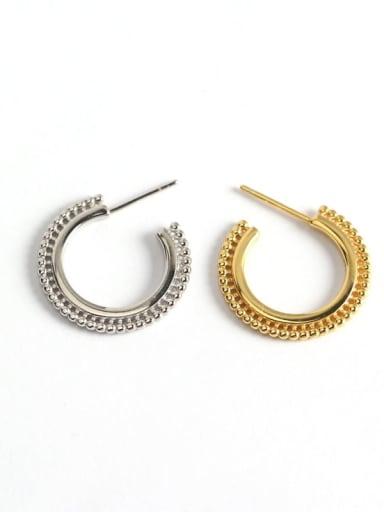 925 Sterling Silver Geometric Trend Hook Earring