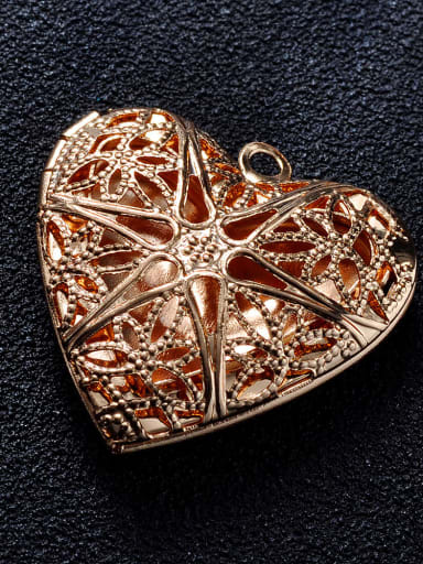 KC gold (champagne gold) Copper Heart Charm Height : 25.5mm , Width: 26mm
