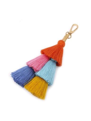 Alloy Cotton Rope Tassel Tassel Hand-Woven Bohemia Bag Pendant