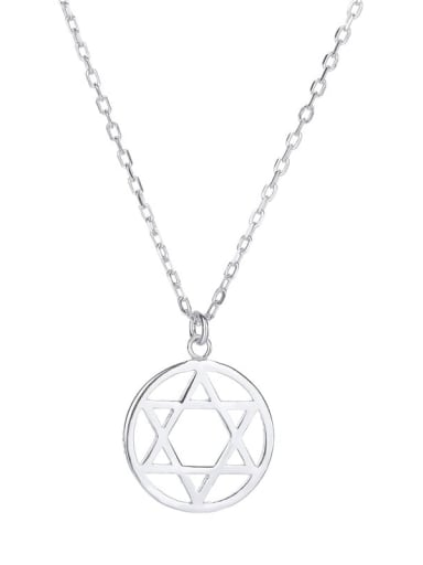 925 Sterling Silver Hollow Star Minimalist Necklace