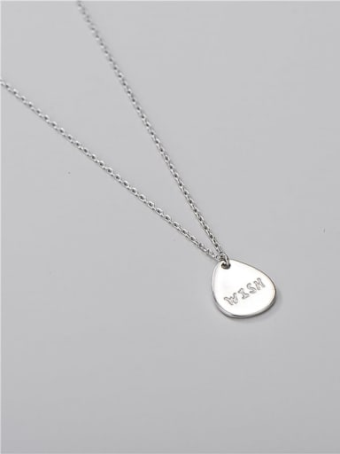 925 Sterling Silver Water Drop Minimalist Necklace