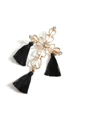 E68264 Stainless steel Cotton Tassel Bohemia Hand-Woven Drop Earring
