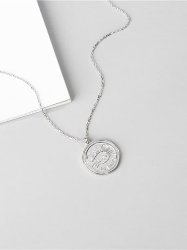 Platinum necklace 925 Sterling Silver Mouse Cute Necklace