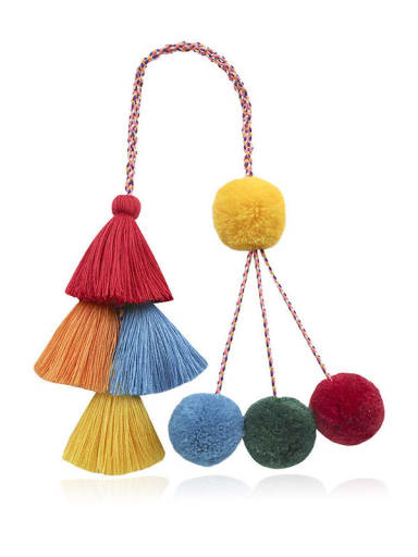 Alloy Cotton Rope Tassel Hand-Woven Bohemia Bag Pendant
